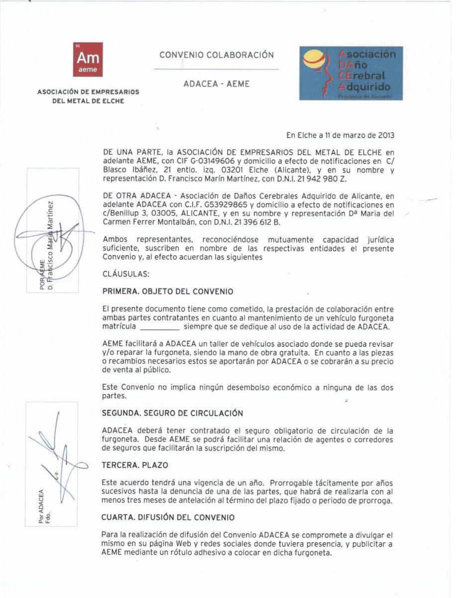 CONVENIO AEME 11/3/2013
