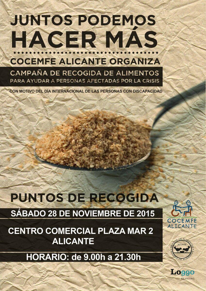 CAMPAÑA RECOGIDA ALIMENTOS COCEMFE ALICANTE