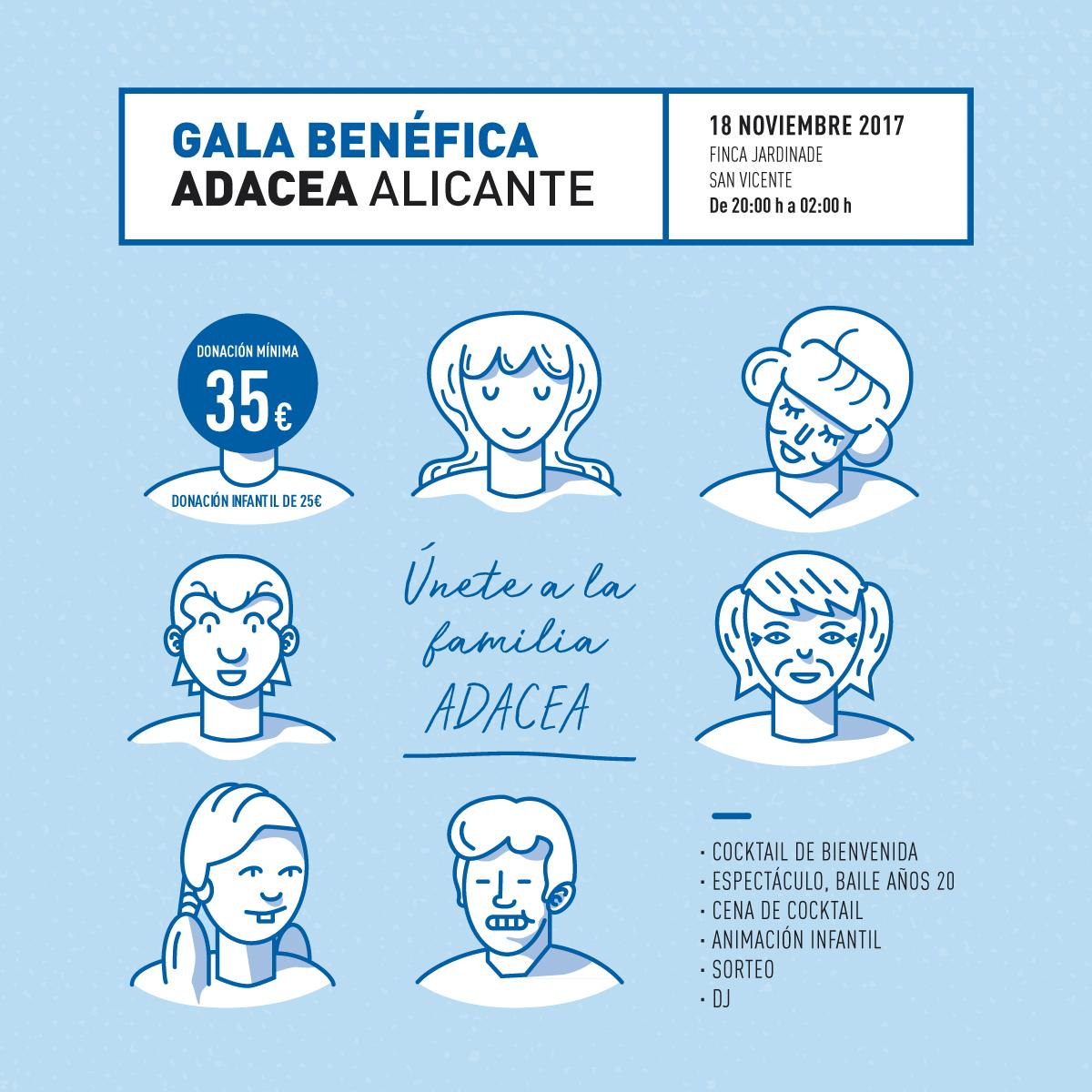 CENA BENÉFICA DE ADACEA Alicante