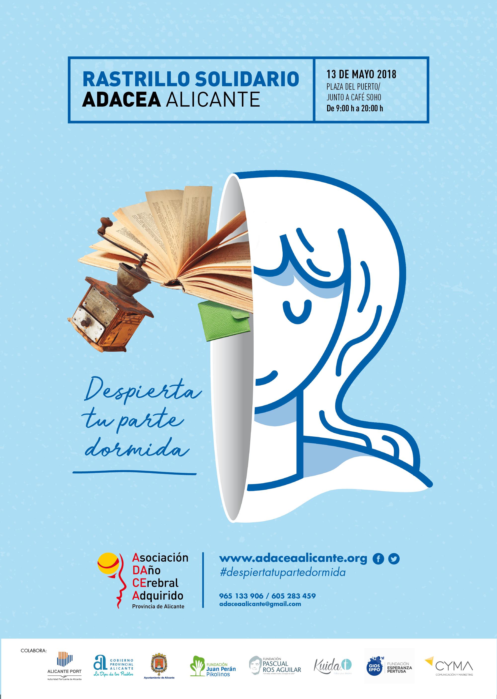 Rastrillo Solidario ADACEA Alicante el 13 de Mayo