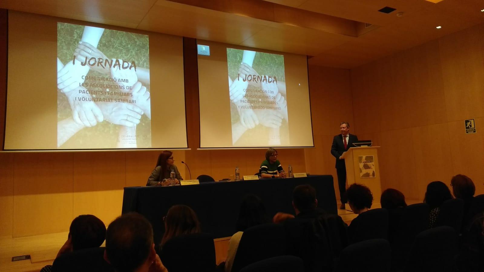 I Jornada. Comunicación con las asociaciones de pacientes y familiares y voluntariado sanitario