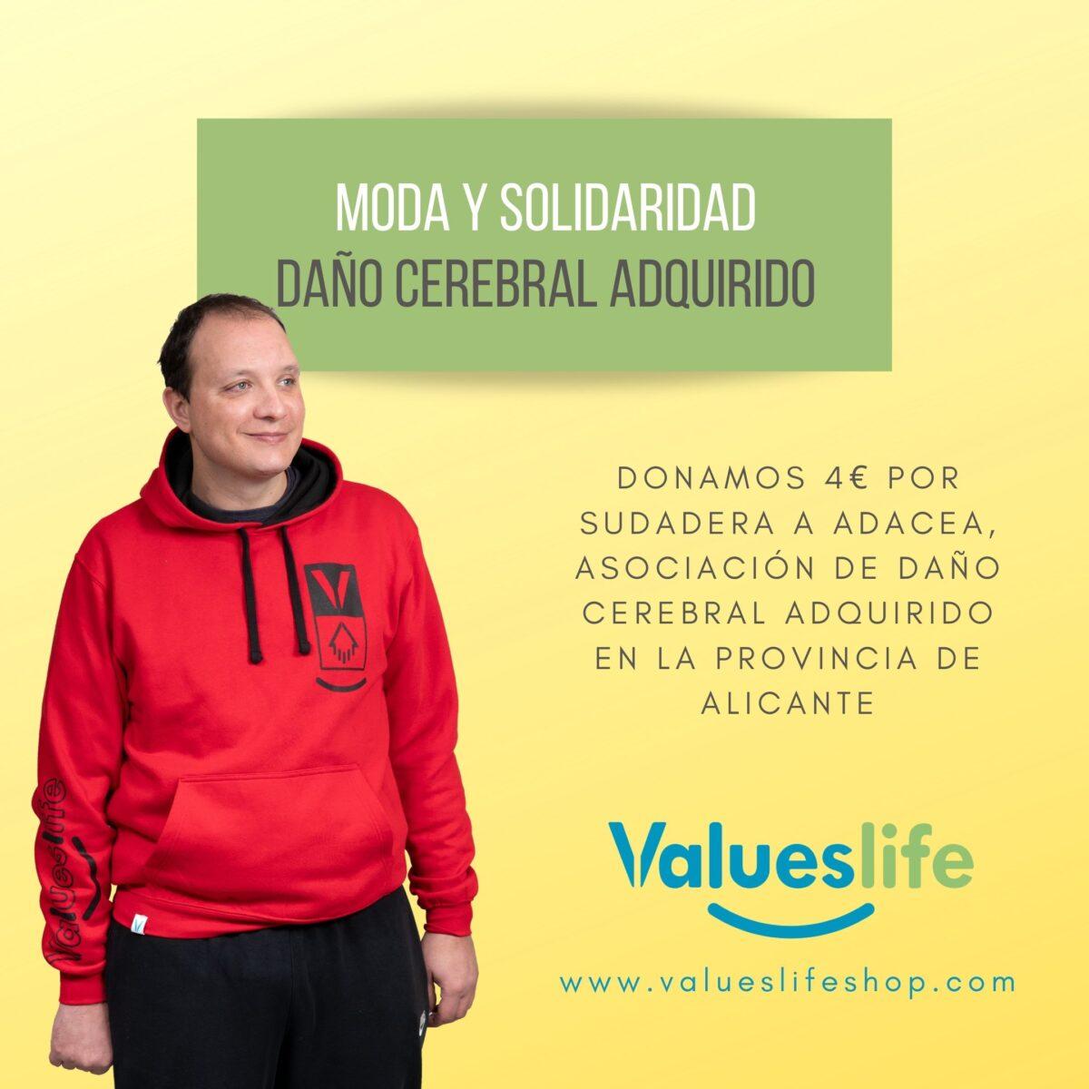 Sudaderas Solidaria de ValuesLife en beneficio de ADACEA