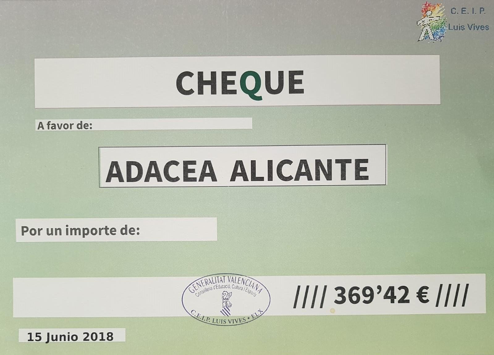 El C.E.I.P. Luis Vives de Elche colabora con ADACEA