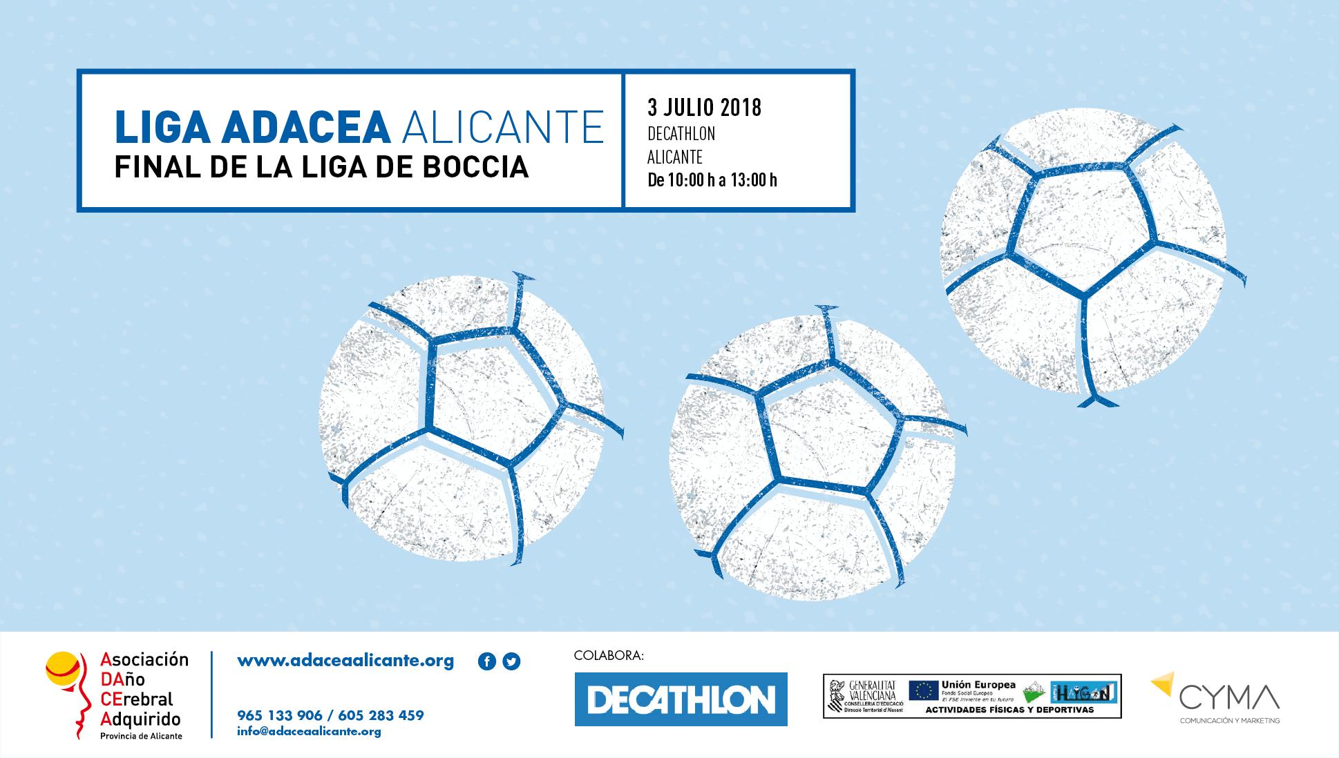 Final liga de Boccia ADACEA Alicante. 3 de Julio
