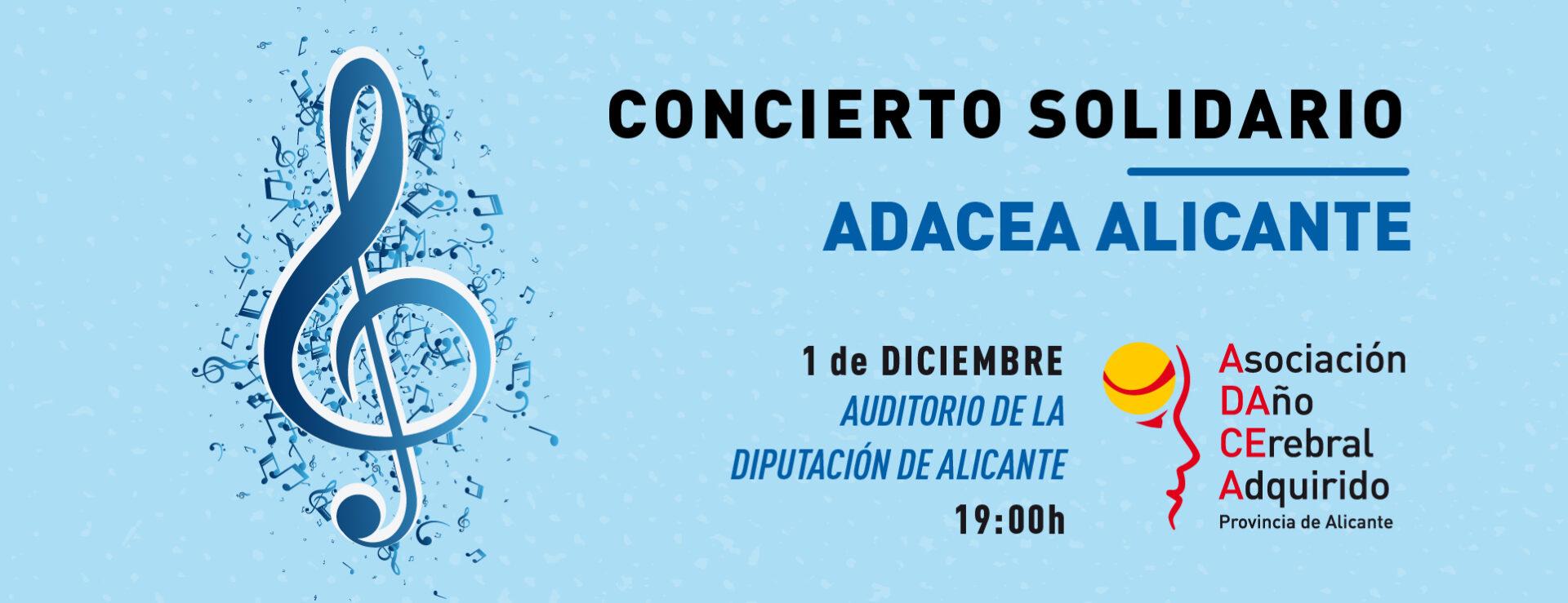 Concierto solidario de ADACEA Alicante, 1 de diciembre