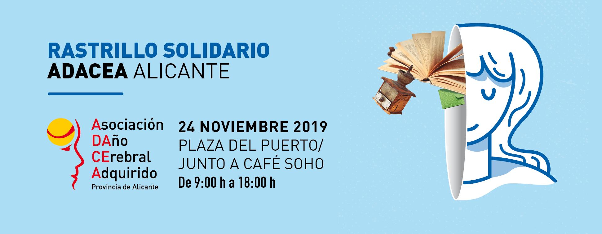 RASTRILLO SOLIDARIO DE ADACEA 24 DE NOVIEMBRE 2019